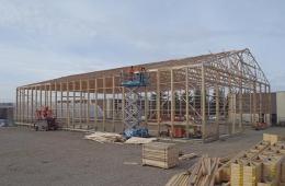 Framing of warehouse project - Regina, SK