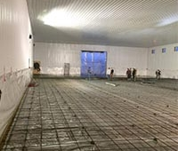 Interior of warehouse project prior to pouring cement - Regina, SK