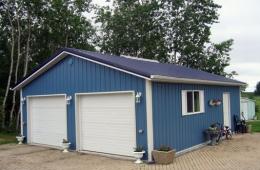 Metal clad garage - Selkirk, MB